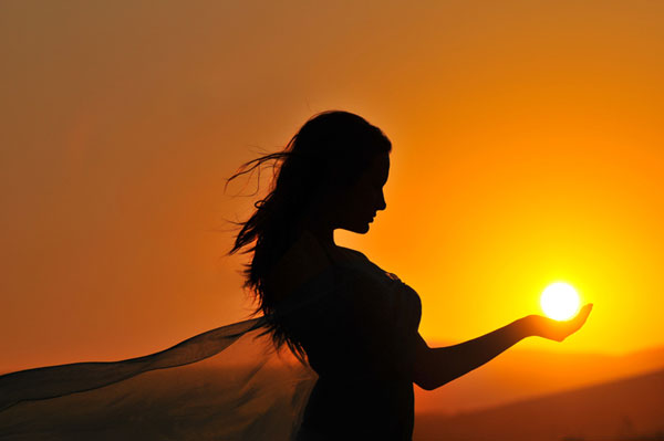 Nice Images Collection: Sun Girl Desktop Wallpapers