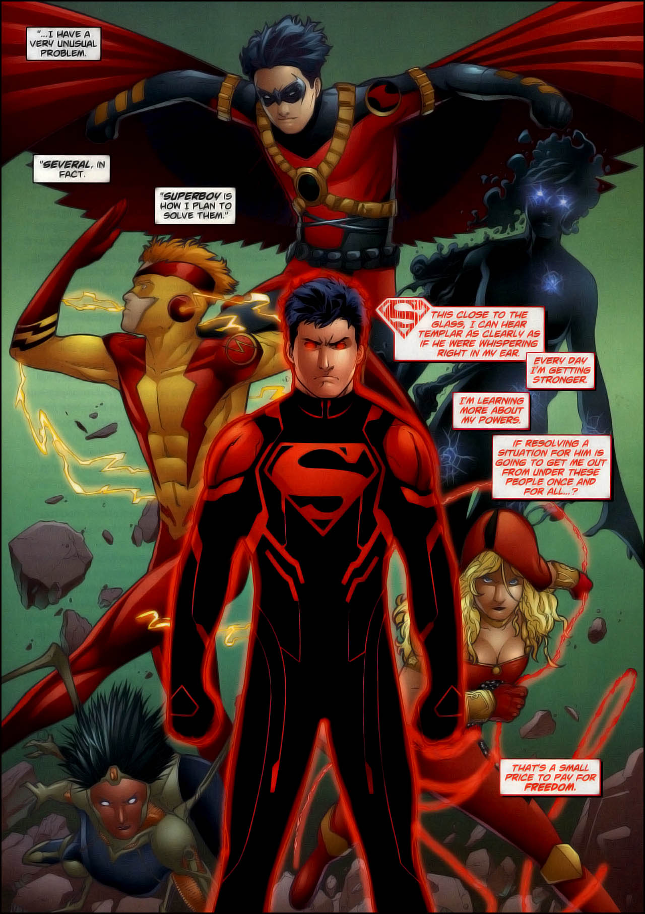 Nice wallpapers Superboy 1280x1814px