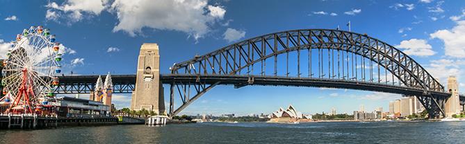High Resolution Wallpaper | Sydney Harbour Bridge 669x208 px
