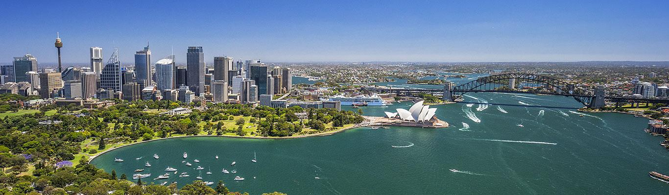 HD Quality Wallpaper | Collection: Man Made, 1366x400 Sydney