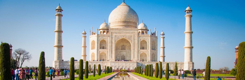 High Resolution Wallpaper | Taj Mahal 1389x454 px