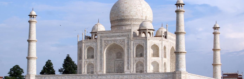 HD Quality Wallpaper | Collection: Artistic, 1389x454 Taj Mahal