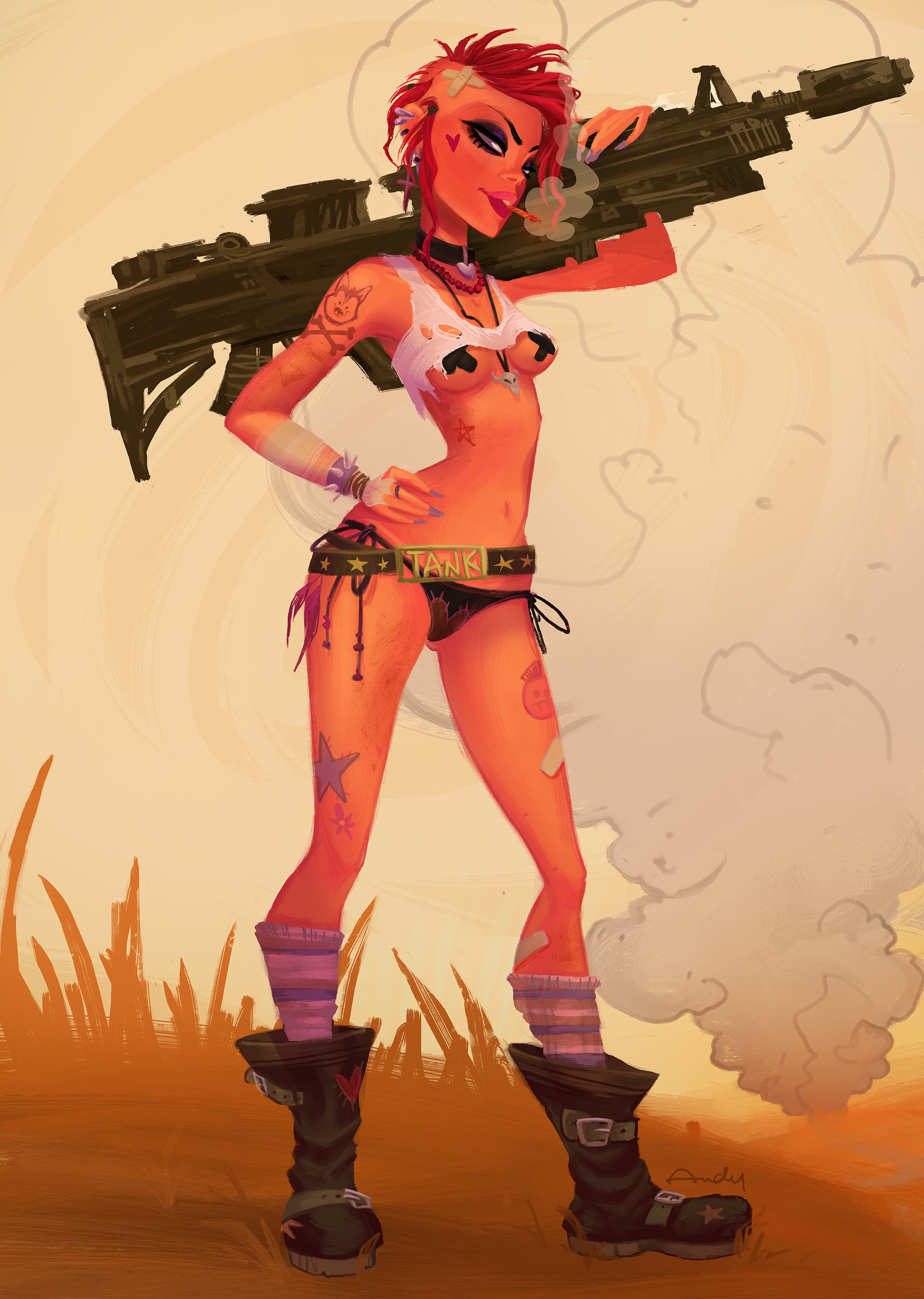 Tank Girl Backgrounds, Compatible - PC, Mobile, Gadgets| 1920x2700 px