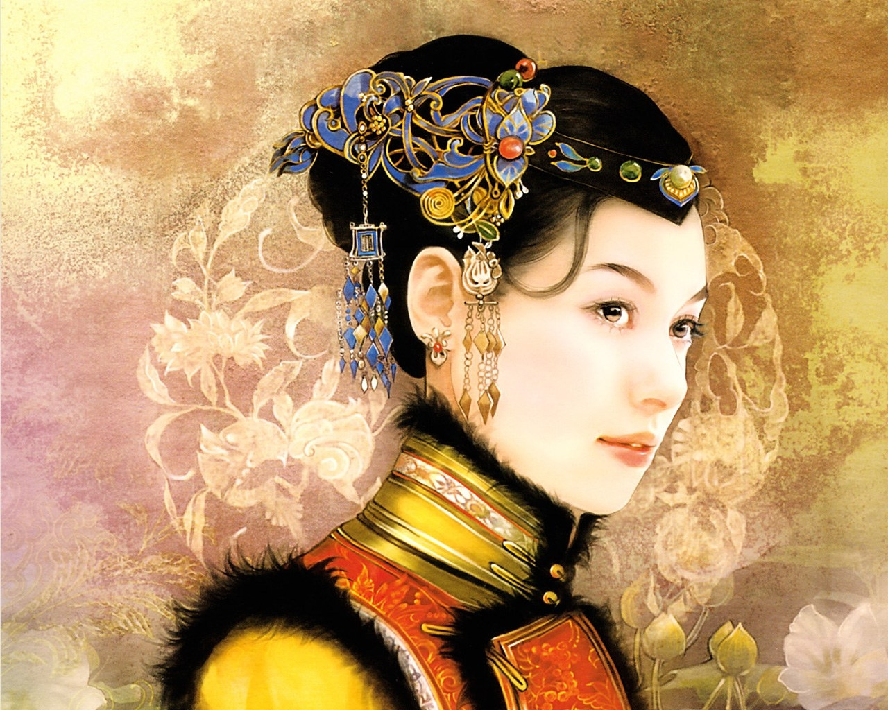 HD Quality Wallpaper | Collection: Artistic, 1280x1024 The Ancient Chinese Beauty