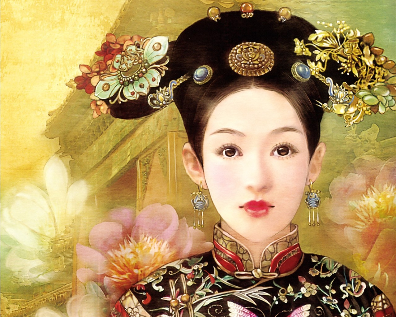 Nice wallpapers The Ancient Chinese Beauty 1280x1024px