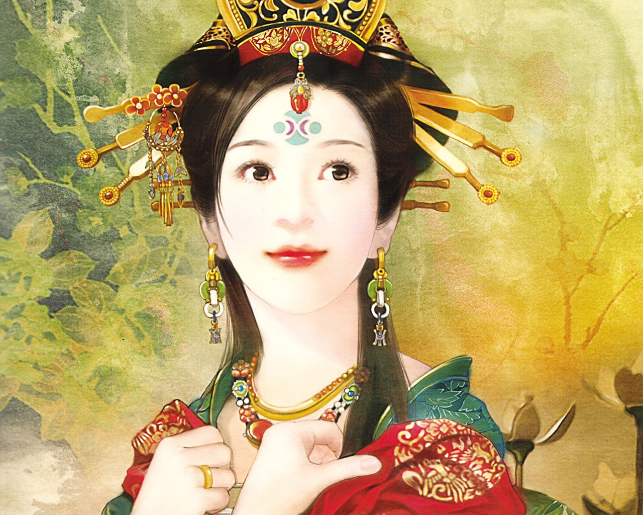 High Resolution Wallpaper | The Ancient Chinese Beauty 1280x1024 px