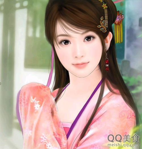 HD Quality Wallpaper | Collection: Artistic, 500x524 The Ancient Chinese Beauty