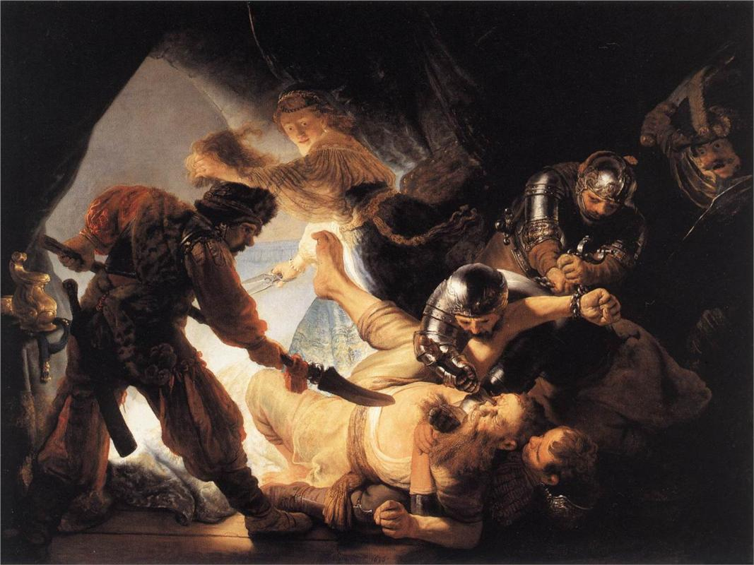 HD Quality Wallpaper | Collection: Artistic, 1067x800 The Blinding Of Samson