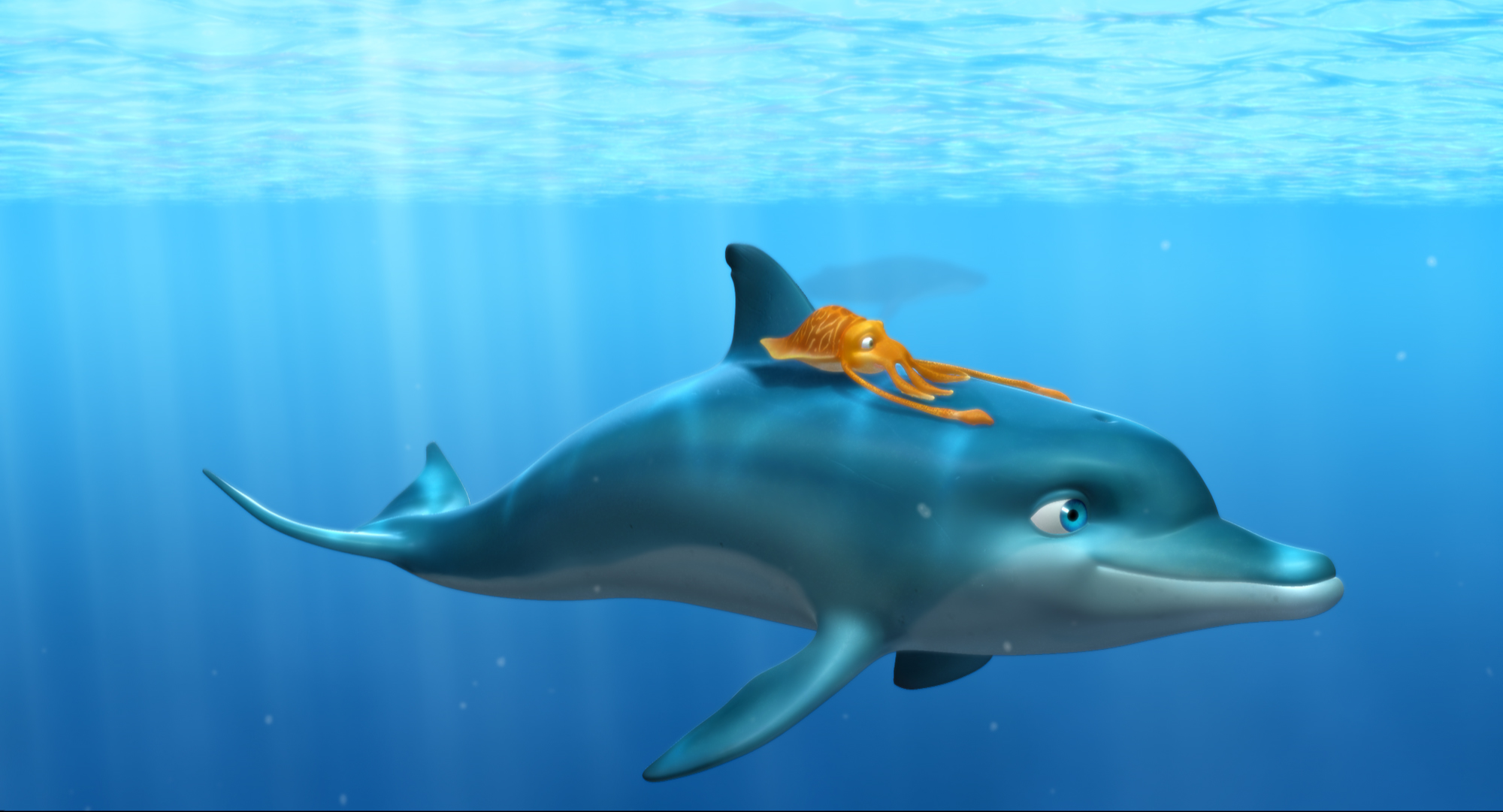 High Resolution Wallpaper   The Dolphin 2000x1081 px