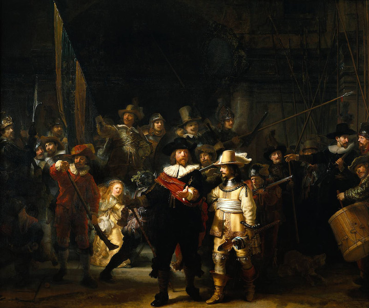 HD Quality Wallpaper   Collection: Artistic, 720x600 The Night Watch