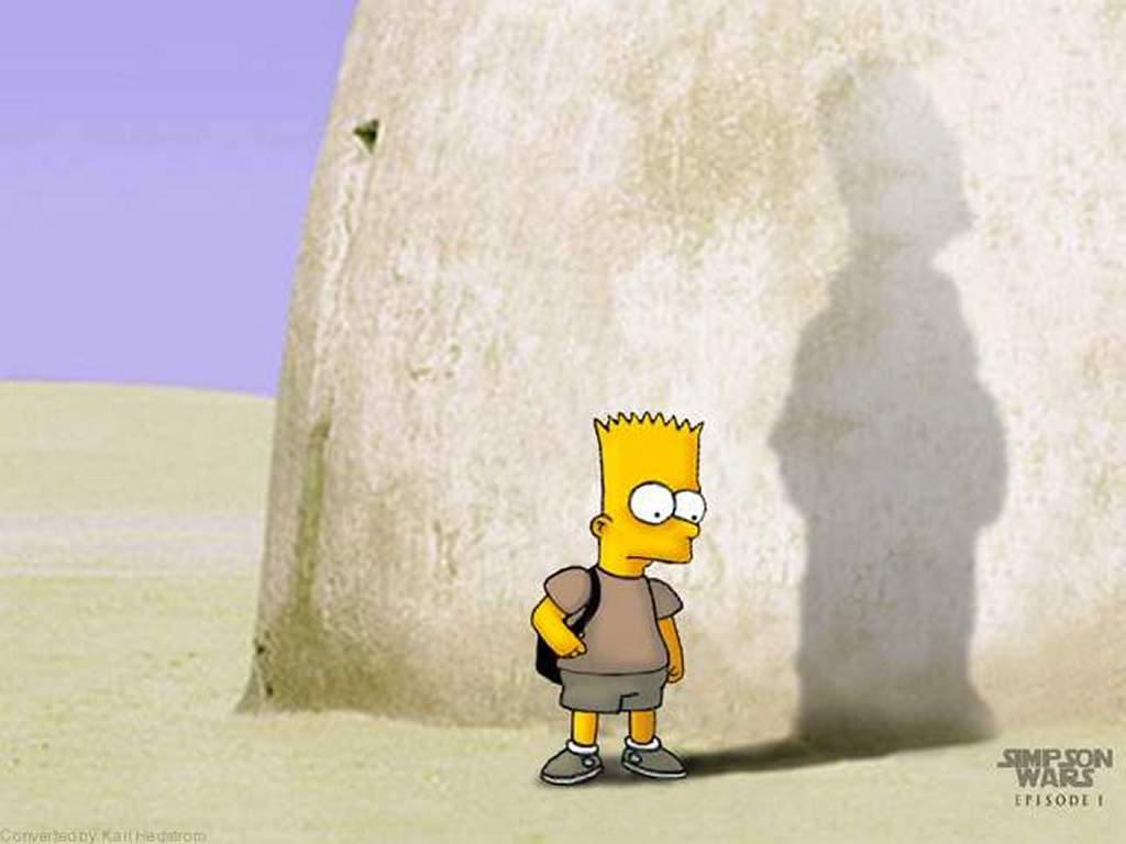 The Simpsons - Star Wars Parody Backgrounds, Compatible - PC, Mobile, Gadgets| 1024x768 px