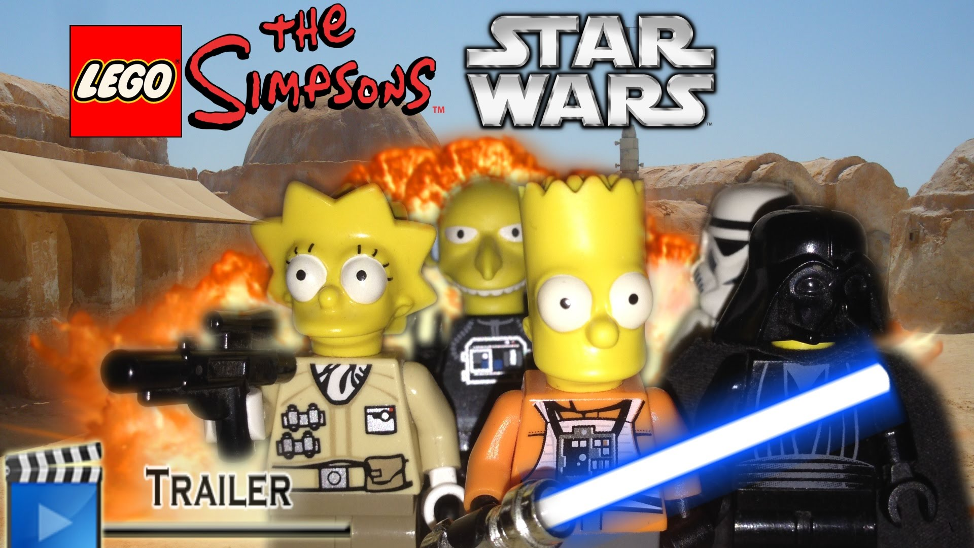 The Simpsons - Star Wars Parody Backgrounds, Compatible - PC, Mobile, Gadgets| 1920x1080 px