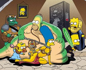 High Resolution Wallpaper | The Simpsons - Star Wars Parody 300x245 px