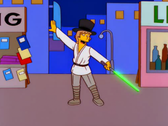 High Resolution Wallpaper | The Simpsons - Star Wars Parody 640x478 px