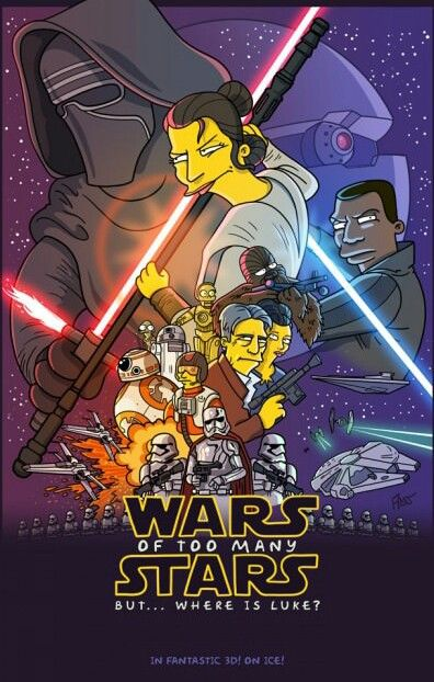 Images of The Simpsons - Star Wars Parody | 396x622