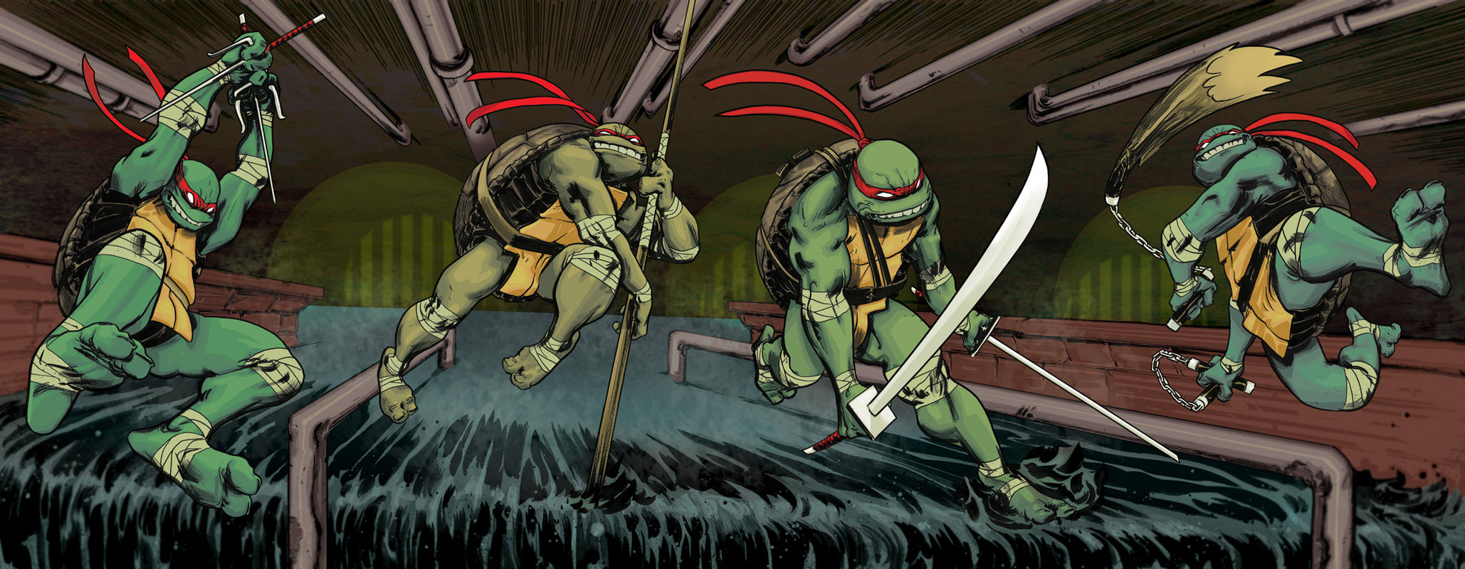 TMNT Backgrounds, Compatible - PC, Mobile, Gadgets| 2058x800 px