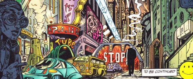 HD Quality Wallpaper   Collection: Comics, 620x254 Transmetropolitan