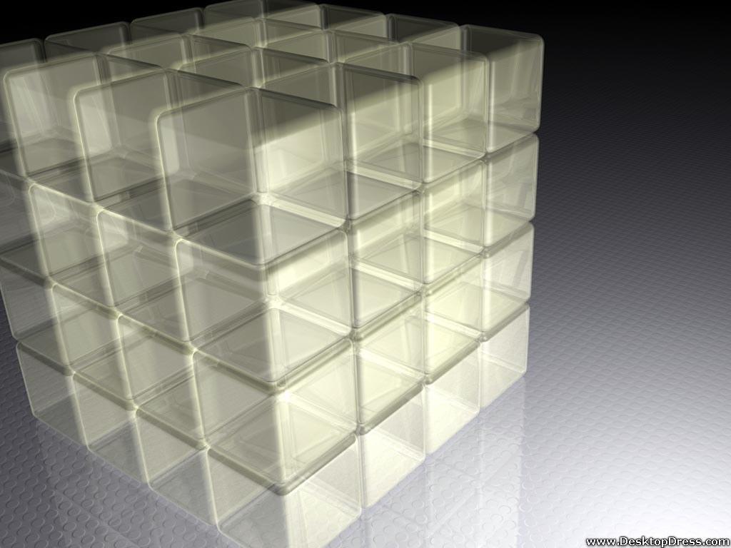Nice wallpapers Transparent Cubes 1024x768px