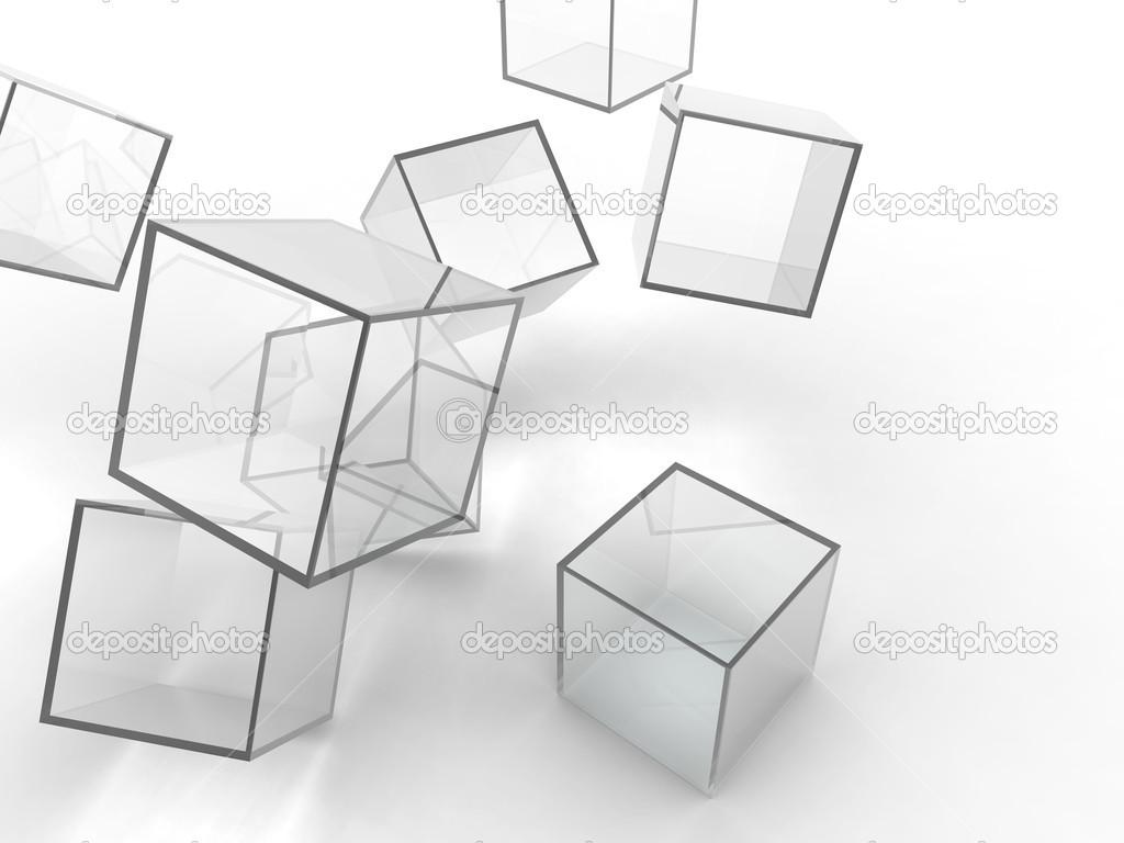 Transparent Cubes Backgrounds, Compatible - PC, Mobile, Gadgets  1024x768 px