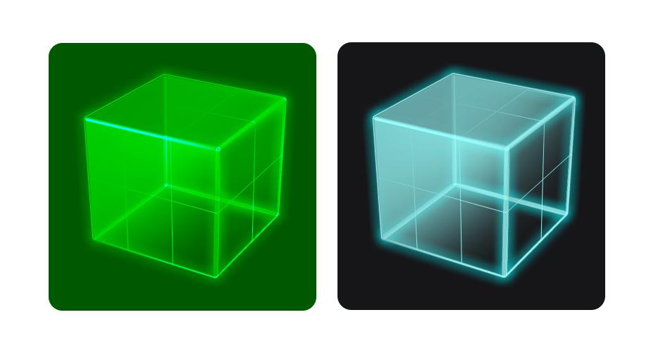 HQ Transparent Cubes Wallpapers   File 85.01Kb