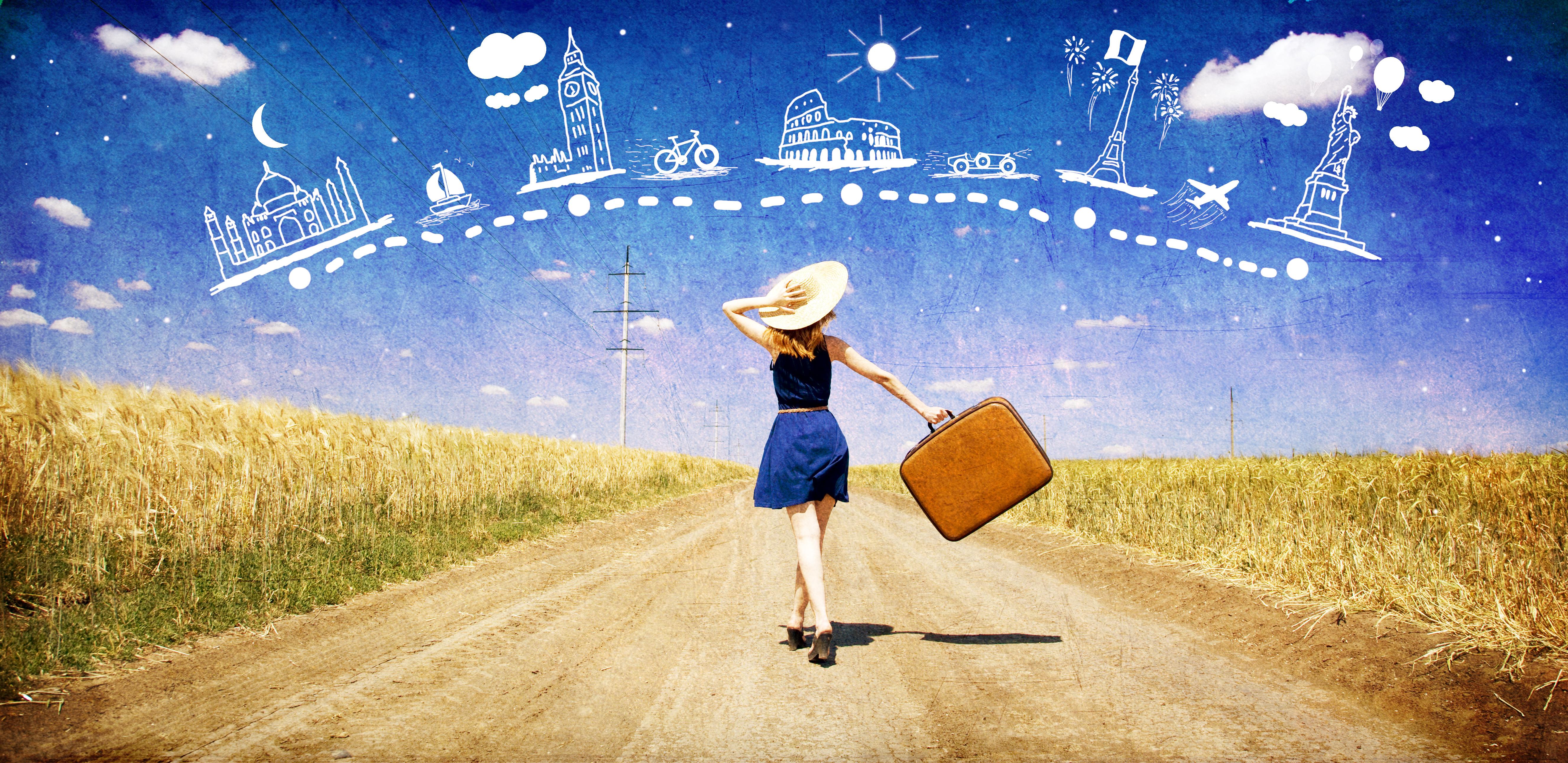 Travel Backgrounds, Compatible - PC, Mobile, Gadgets| 5304x2580 px