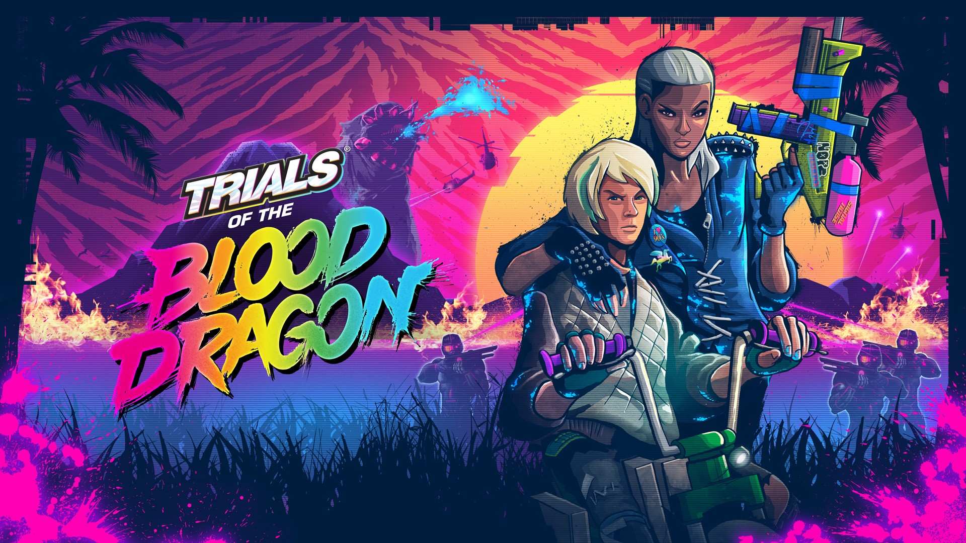 Nice Images Collection: Trials Of The Blood Dragon Desktop Wallpapers