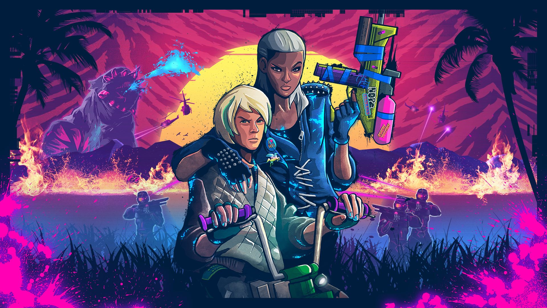 Nice wallpapers Trials Of The Blood Dragon 1920x1080px