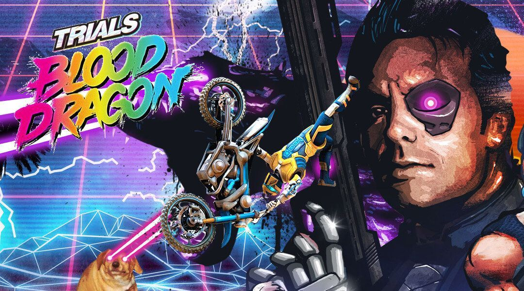 Nice wallpapers Trials Of The Blood Dragon 1080x600px