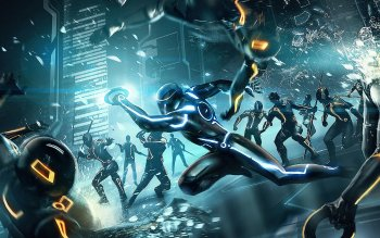 HD Quality Wallpaper | Collection: Video Game, 350x219 Tron: Evolution