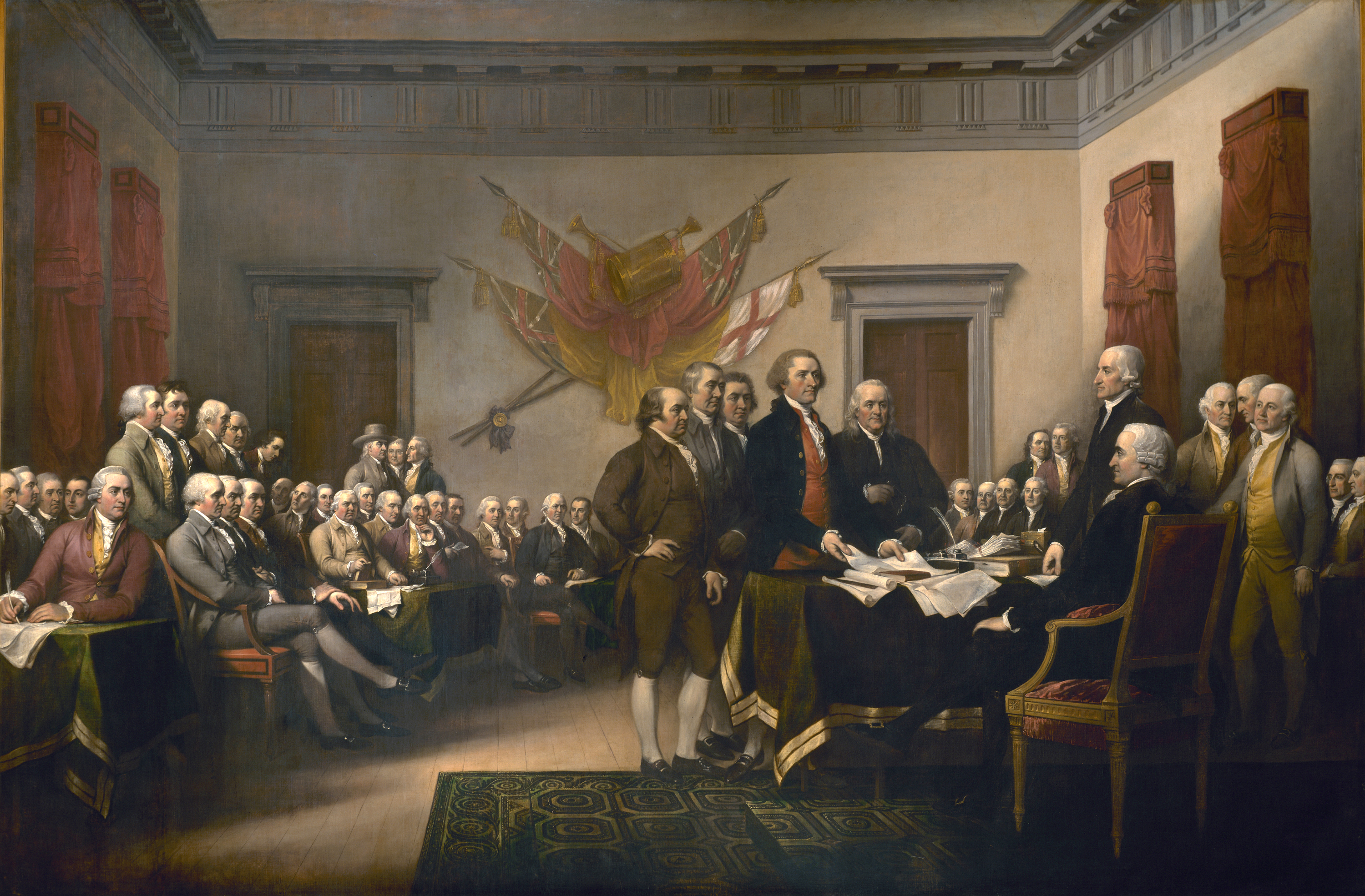 High Resolution Wallpaper | Trumbull's Declaration Of Independence 3000x1970 px