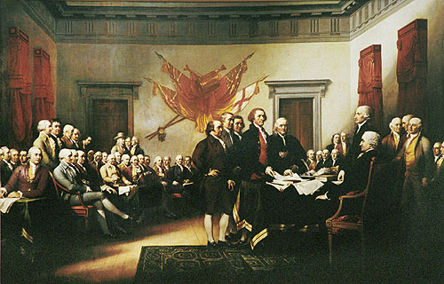 HD Quality Wallpaper | Collection: Artistic, 500x320 Trumbull's Declaration Of Independence
