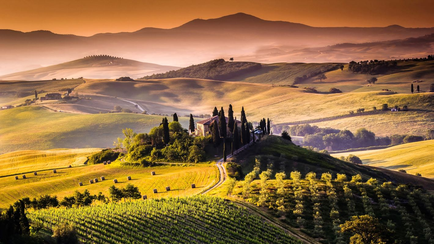 HD Quality Wallpaper | Collection: Photography, 1420x799 Tuscany