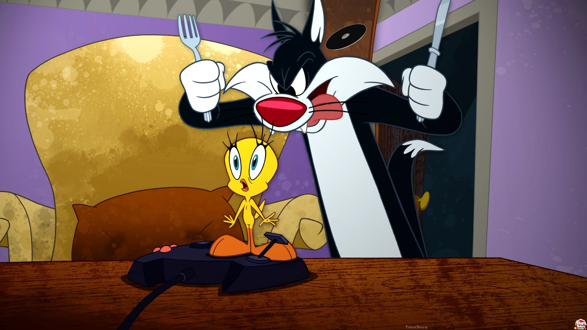 Nice Images Collection: Tweety And Sylvester Desktop Wallpapers