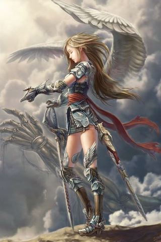 HD Quality Wallpaper | Collection: Comics, 320x480 Valkyrie