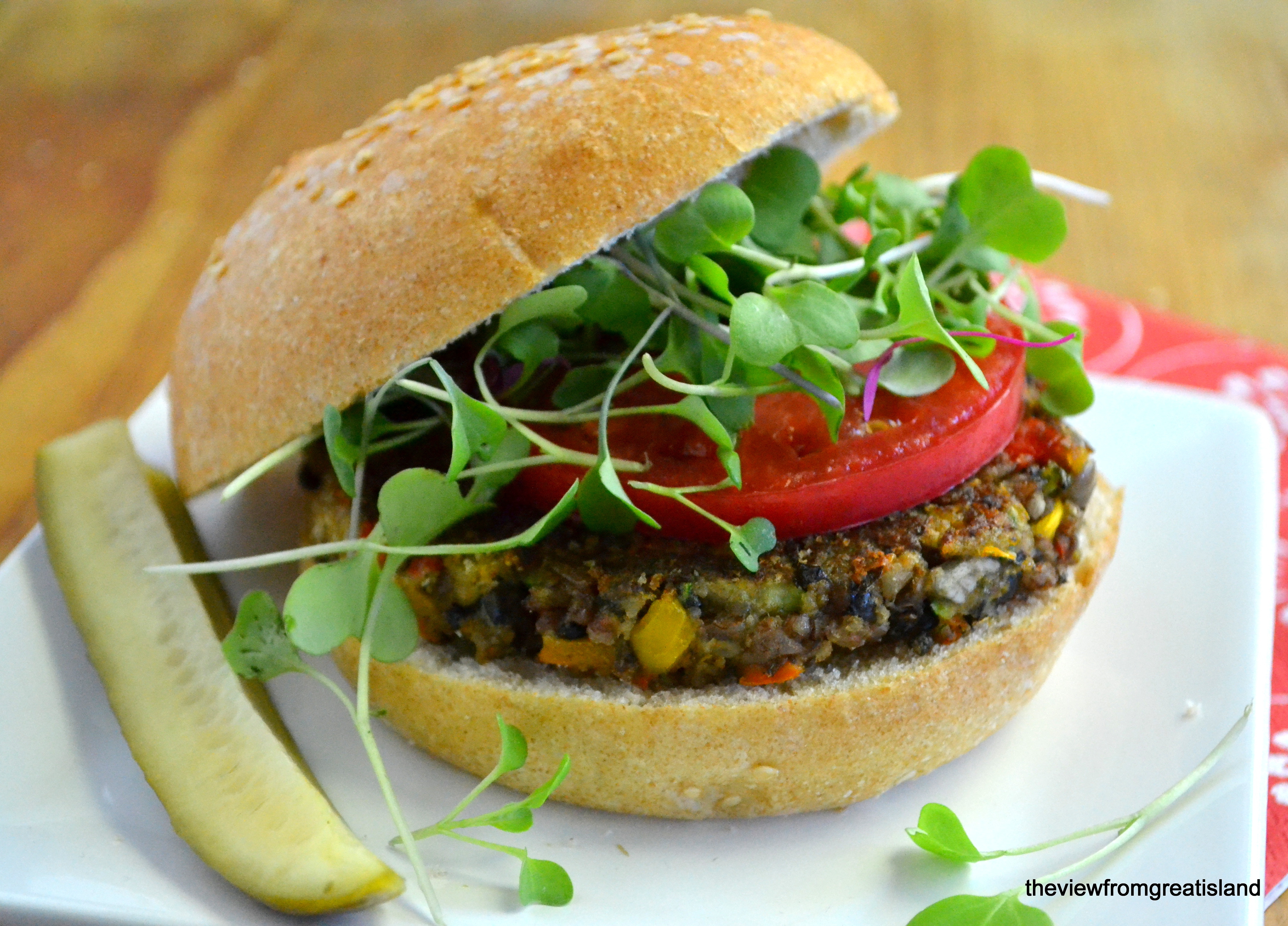 Veggie Burger High Quality Background on Wallpapers Vista