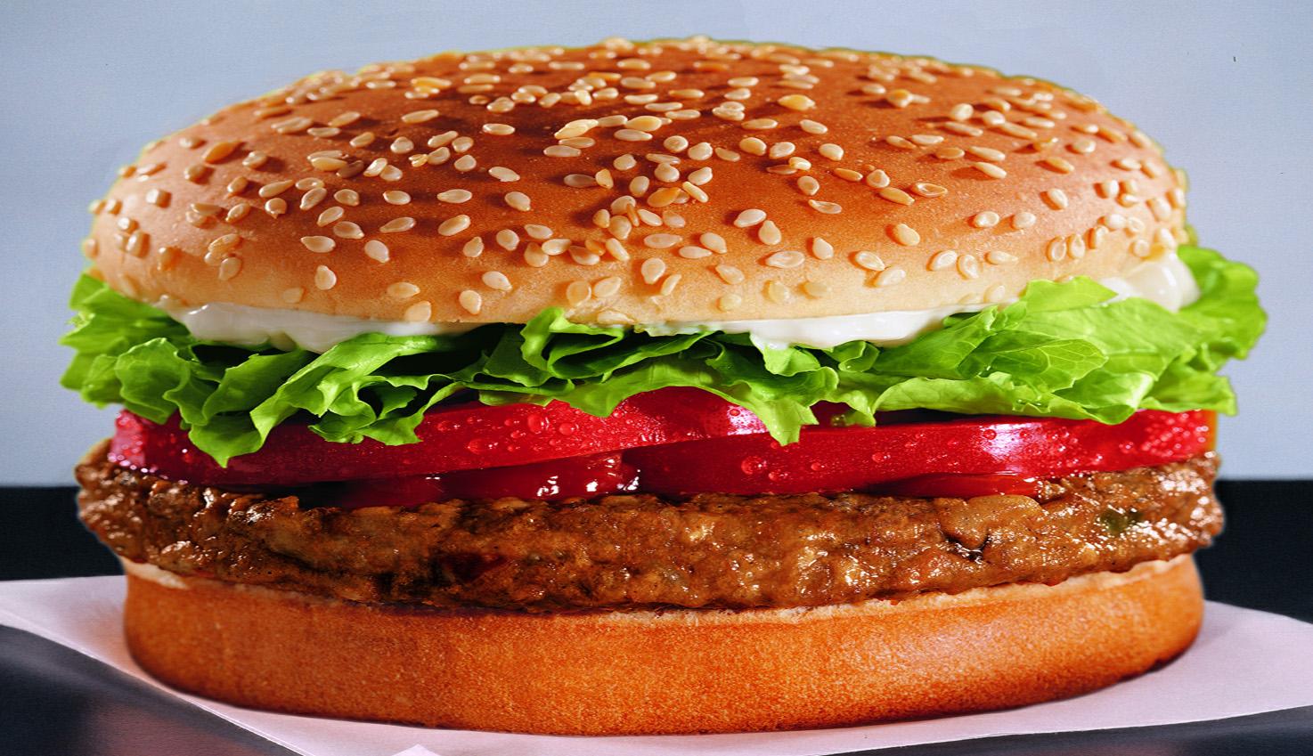 Nice wallpapers Veggie Burger 1474x849px