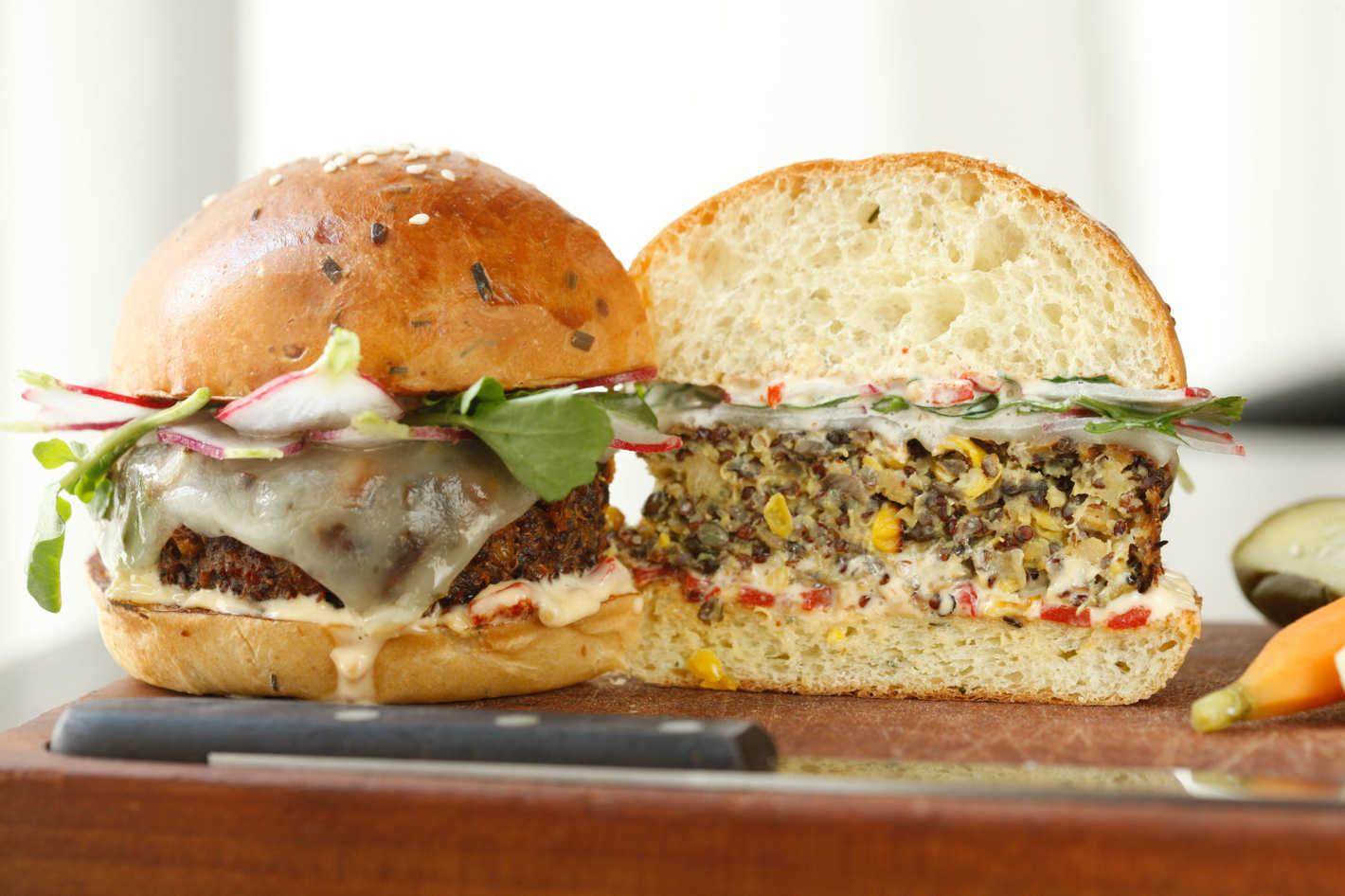 Veggie Burger Backgrounds, Compatible - PC, Mobile, Gadgets| 1420x946 px