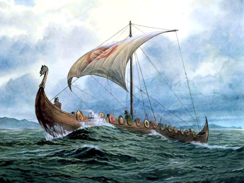 Viking Ship Backgrounds, Compatible - PC, Mobile, Gadgets| 1024x768 px