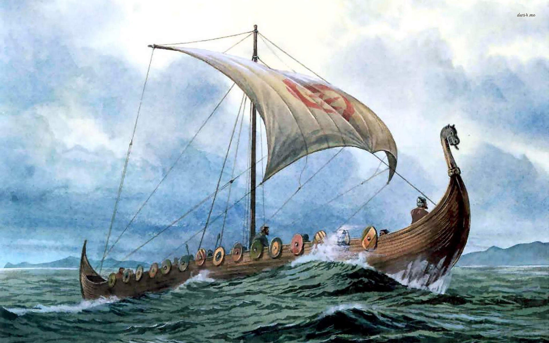 Nice Images Collection: Viking Ship Desktop Wallpapers