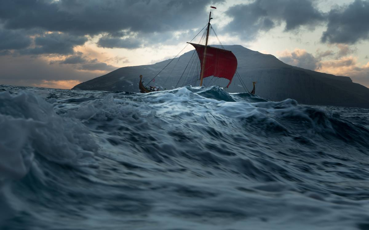 HD Quality Wallpaper | Collection: Artistic, 1200x750 Viking Ship