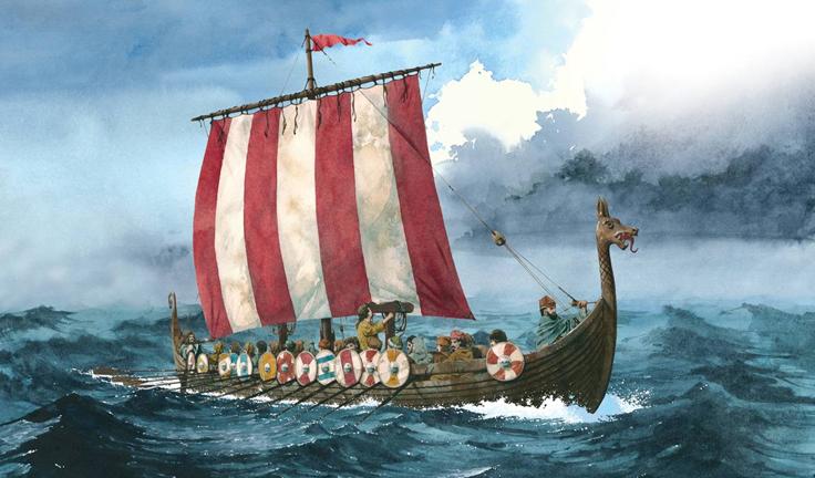Nice wallpapers Viking Ship 736x432px