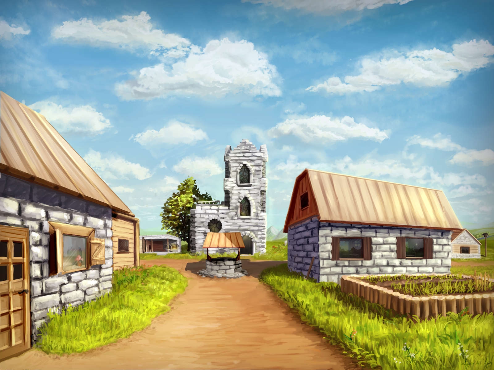High Resolution Wallpaper | Village 1600x1200 px