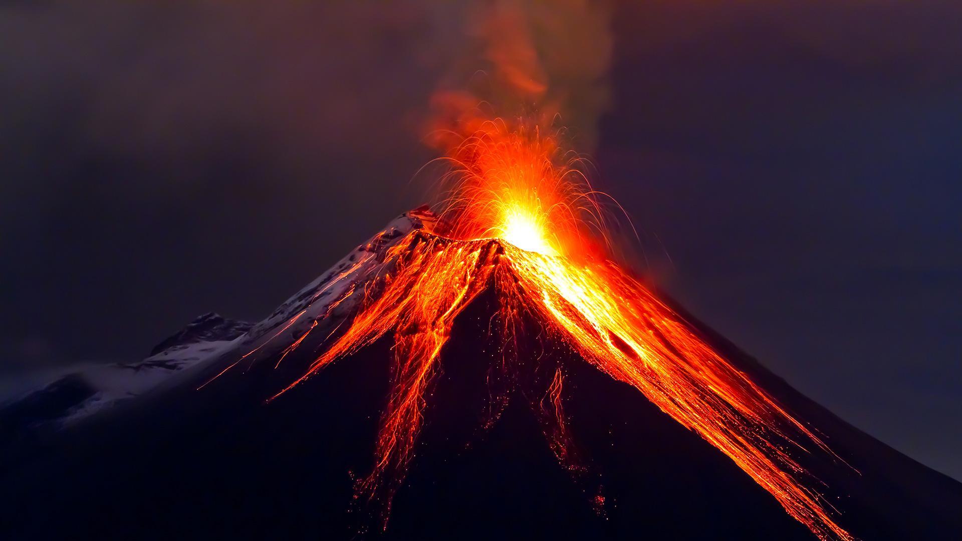 HD Quality Wallpaper | Collection: CGI, 1920x1080 Volcano