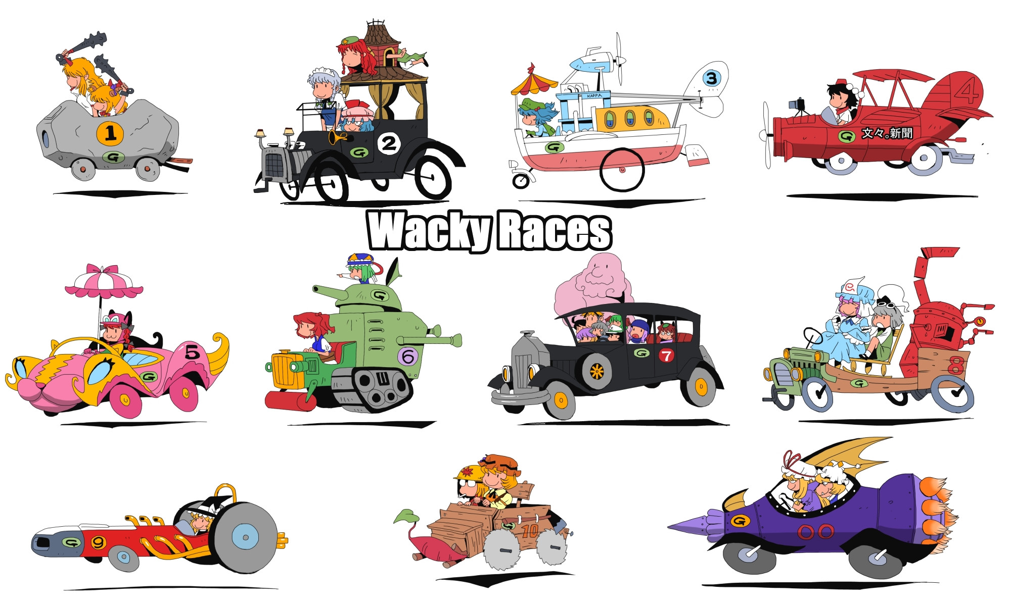 HQ Wacky Races Wallpapers | File 445.75Kb