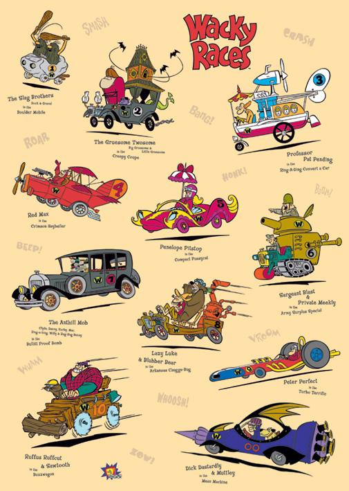 HQ Wacky Races Wallpapers | File 70.45Kb