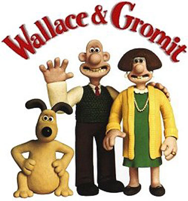 Nice wallpapers Wallace & Gromit 375x400px
