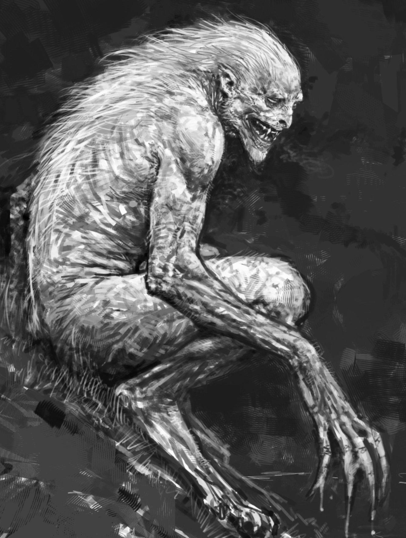 HD Quality Wallpaper | Collection: Dark, 1330x1760 Werewolf