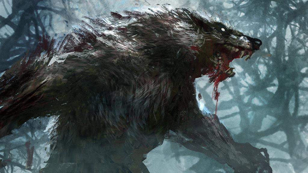 HD Quality Wallpaper | Collection: Dark, 1024x576 Werewolf