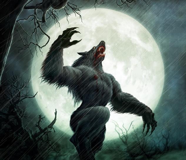HD Quality Wallpaper | Collection: Dark, 633x543 Werewolf