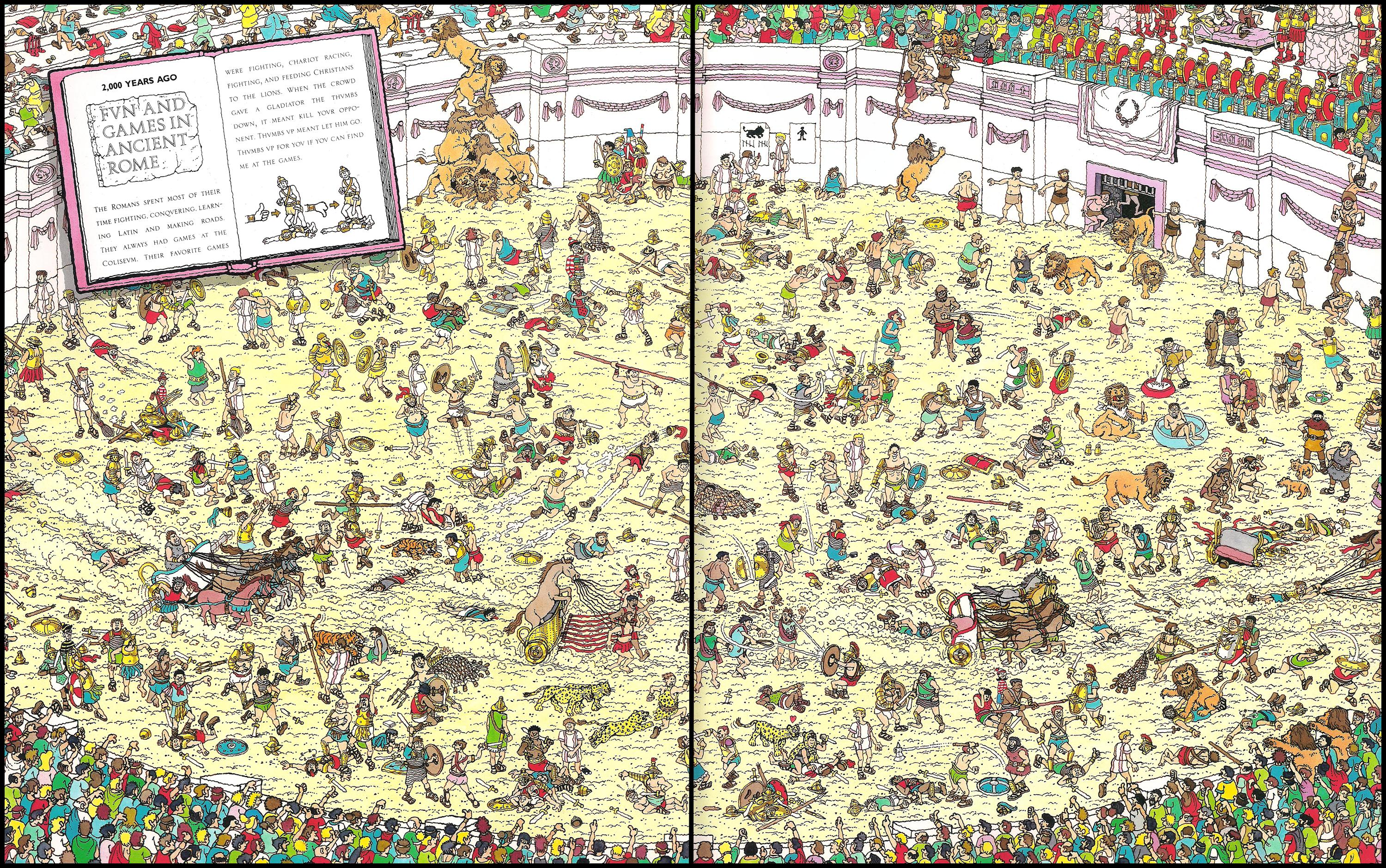 HD Quality Wallpaper | Collection: Cartoon, 3000x1880 Wheres Waldo?